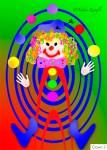 Nadia Kronfli, Juggling, clown, children's card