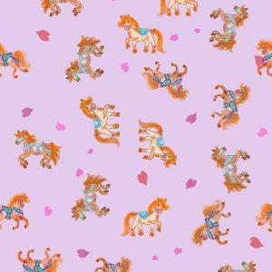 carousel Horses children pattern