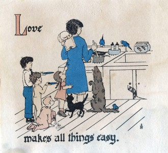 love makes all things easy - original