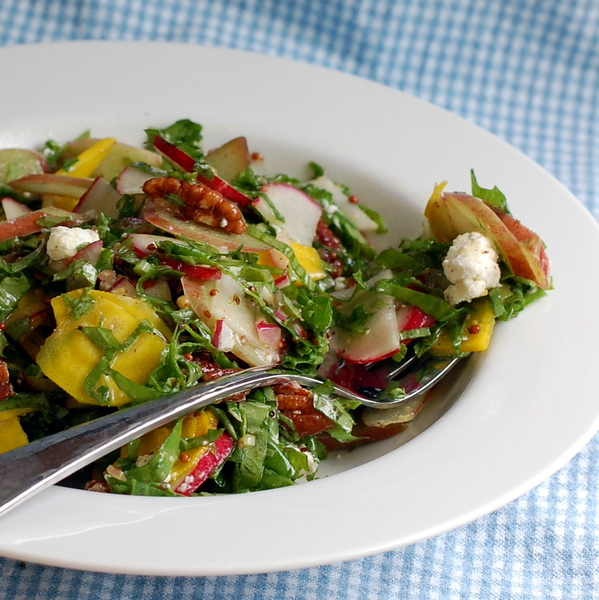 Spring Chopped Salad with Rhubarb