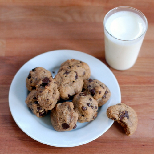 Chocolate Chip Cookies with only four ingredients!