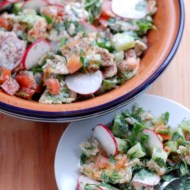 Fattoush with Yogurt