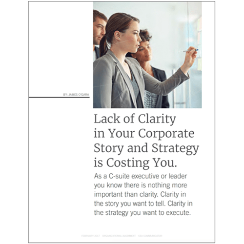 lack of clarity in your corporate story and strategy is costing you