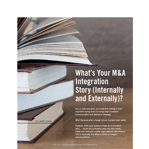 What's Your M&A Integration Story?