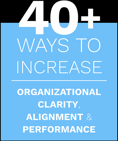40+ Ways to Increase Organizational Clarity, Alignment & Performance