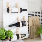Diy Weinregal Mit Lederbandern It S Pretty Nice Interior Design Diy