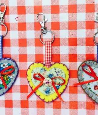 Heart keyring kit 1