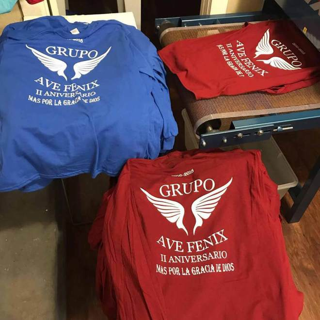 Screen print services available locally in Burleson TX