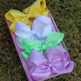 spring color bows, easter bows, pastel bows, soft color bows, baby color bows