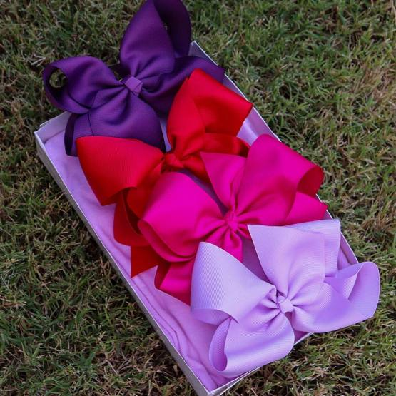 purple bow box, bow box, monthly bow box, bow box collection, purple bows