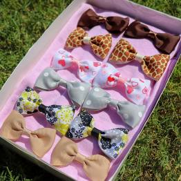 mix-match bowtie bow set, bowtie bow set, gifts for babies, bows for babies, bows
