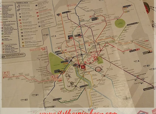 navigating the Madrid metro system