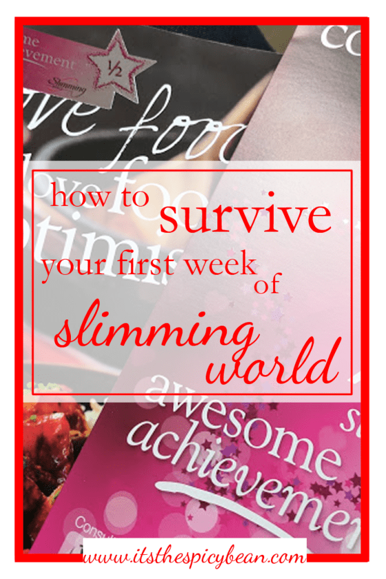 how to survive week 1 of slimming world