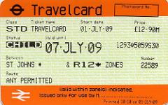 london travel card