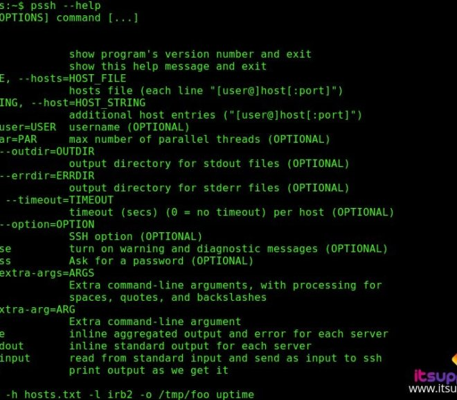 Pssh – Execute SSH Commands on Multiple Systems Using Single Command