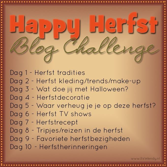 Happy Herfst Blog Challenge