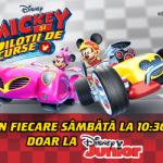 Mickey si Pilotii de curse te provoaca la concurs!