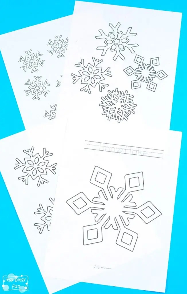 Snowflake Coloring Pages Itsybitsyfun Com