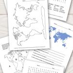 Continents And Oceans Worksheets Free Word Search Quiz And More Itsybitsyfun Com