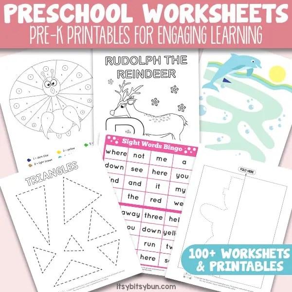 Preschool Worksheets Pre K Printables For Engaging