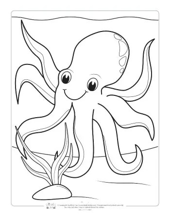 Ocean Animals Coloring Pages for Kids - Itsy Bitsy Fun | animal coloring pages for toddlers