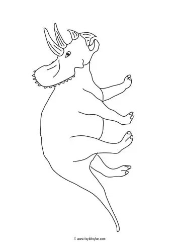 Dinosaur Coloring Pages Itsybitsyfun Com