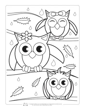 Fall Coloring Pages For Kids Itsybitsyfun Com