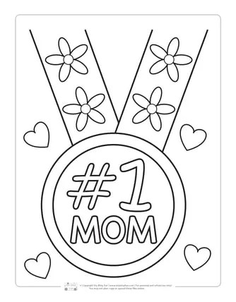Mother S Day Coloring Pages Itsybitsyfun Com