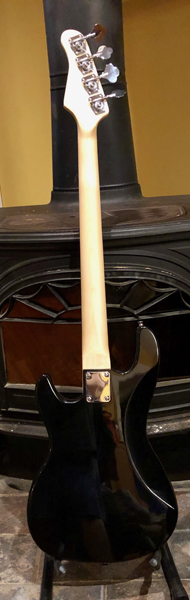 "JJ's FunkMachine has a classic ""thick"" P-Bass neck profile. The neck has been hand-shaped and finished with tung oil."