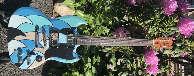 Sandy Oceania custom SG guitar 1