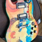 front of Fool replica guitar