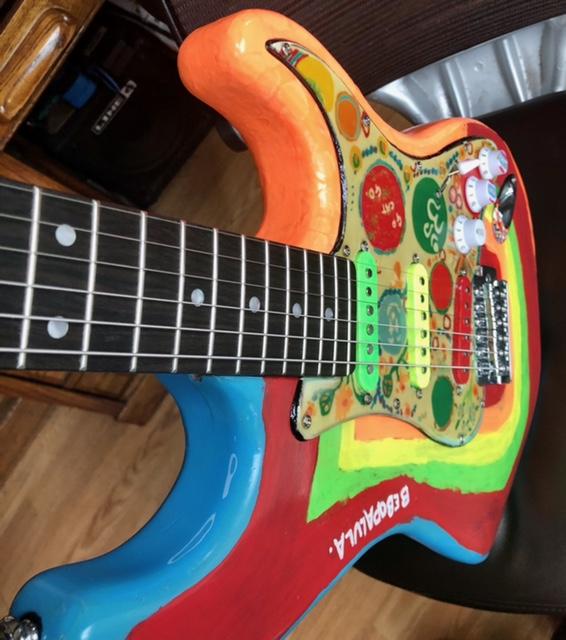 Rocky replica guitar body
