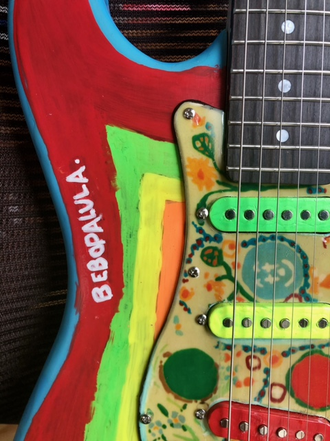Rocky replica guitar bebopalula