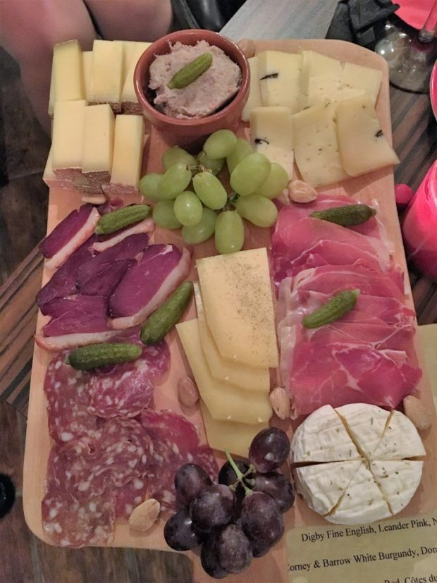Trader's Wine Bar - A fine board of charcuterie and cheeses