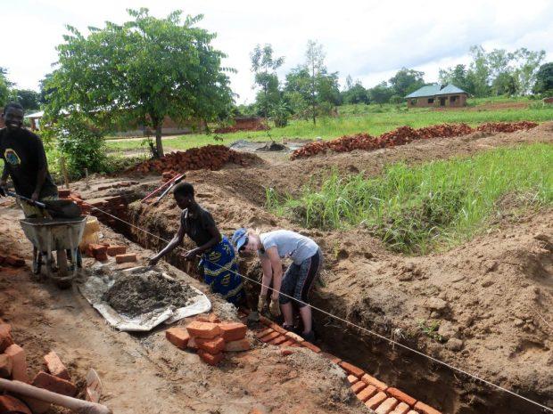 Building a school in Malai