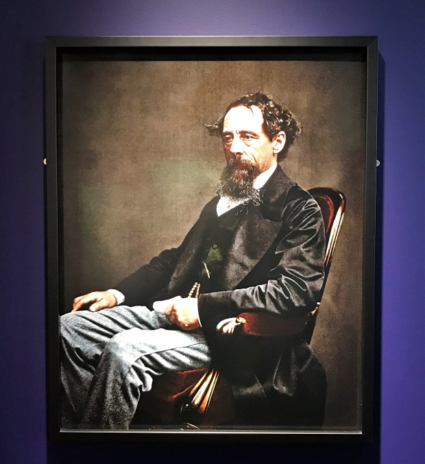 Charles Dickens in colour