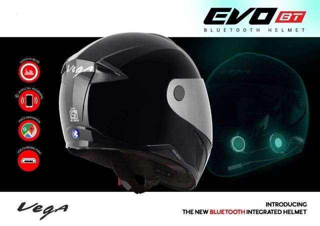 Vega Evo BT Bluetooth Helmet-technote