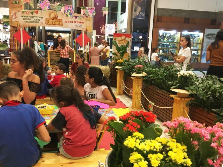 Oficinas Juninas são sucesso e reúnem grande público no Plaza Shopping