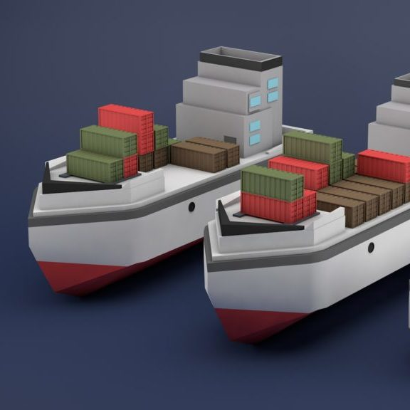 Panama Canal LowPoly Animated Video