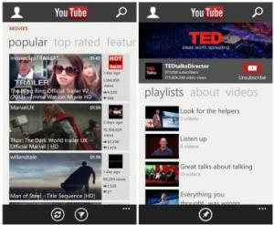 YouTube for Windows Phone 8 1