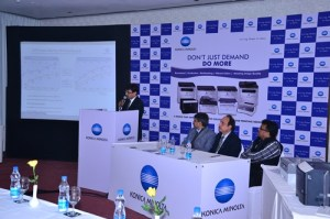 Konica Minolta and Karishma Computers at the Partner Launch in New Delhi