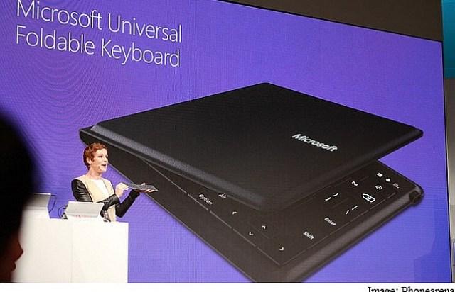 microsoft foldable keyboard mwc 2015 phonarena
