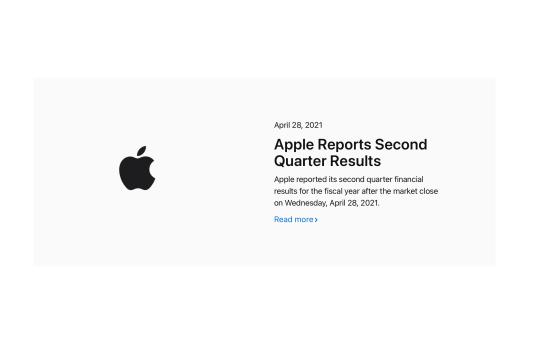 Apple Q2 Report