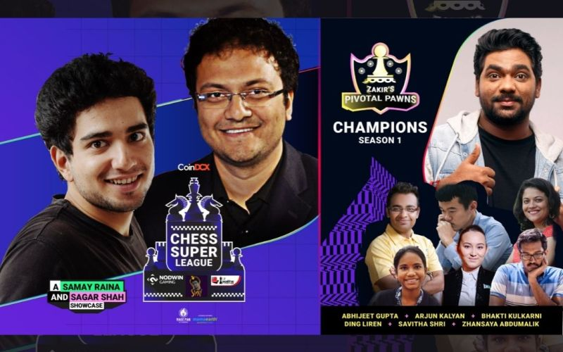 The Chess Super League organized by NODWIN Gaming, ChessBase India and Samay Raina concludes with a bang; Zakir Khan's Pivotal Pawns bags a lion's share of INR 40 lakh prize pool