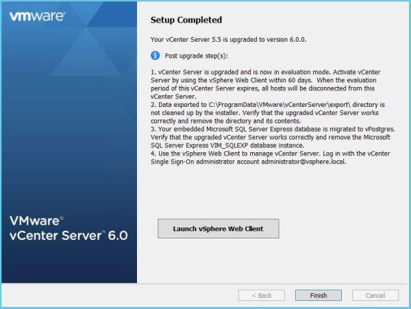 vCenter upgrade12
