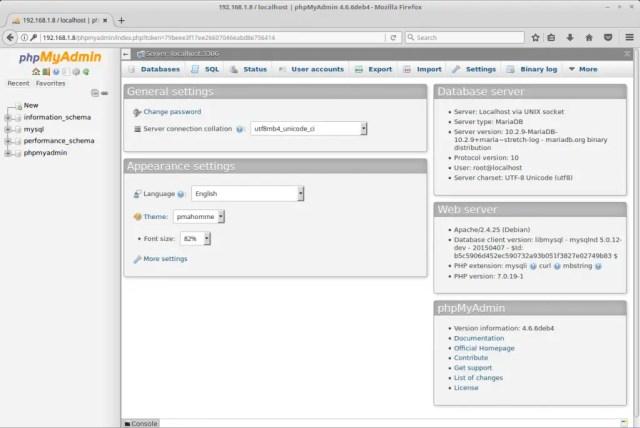 Install phpMyAdmin on Debian 9 - phpMyAdmin