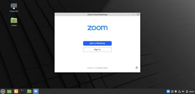 Zoom Client On Linux Mint 20
