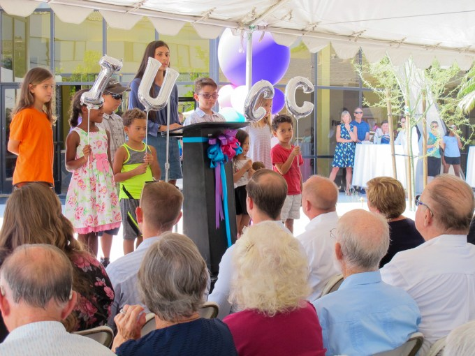 IUCC youth concluded the dedication ceremony with a blessing.
