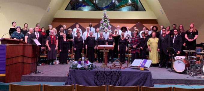 Chancel Choir, December, 2018 Holiday Concert
