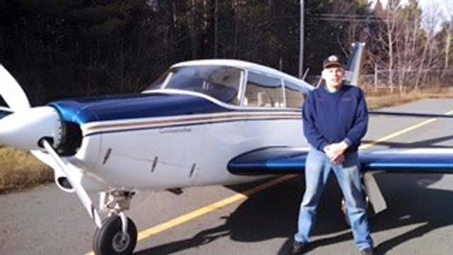 L1 Andrew Davie, a commercial instrument rated pilot, pictured with his pa-24 Comanche
